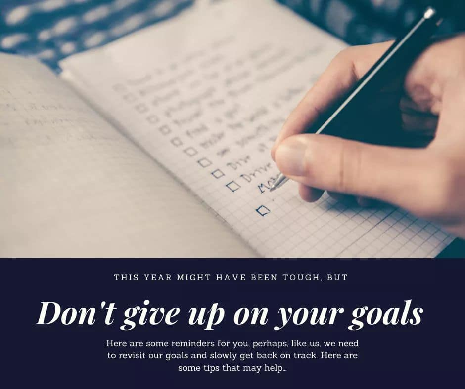 Revisiting Goals: Getting Back on Track