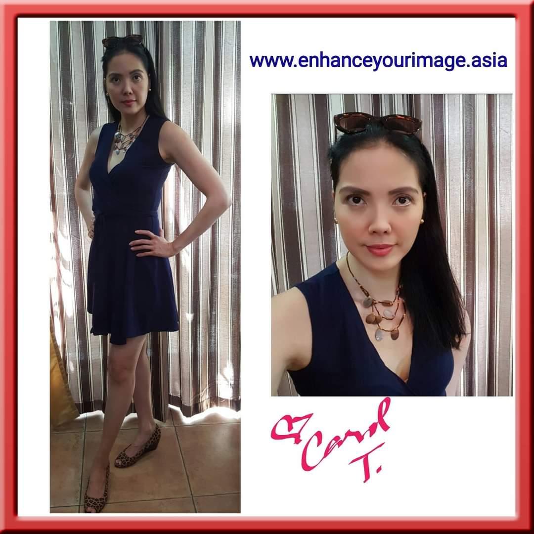 Wearing a Sleeveless Wrap Dress