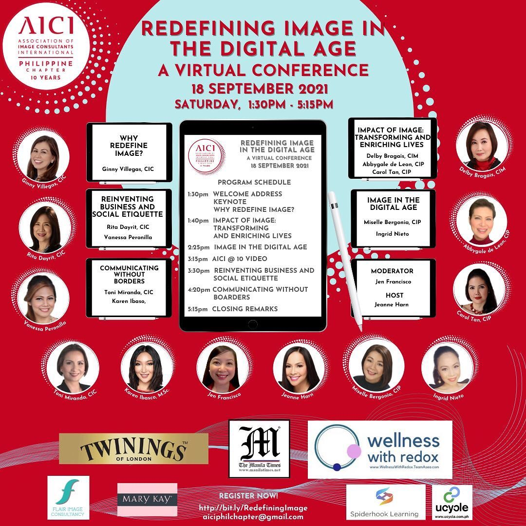 Redefining Image In The Digital Age: A Virtual Conference Of The AICI Philippine Chapter